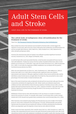 Adult Stem Cells and Stroke