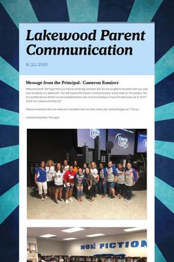 Lakewood Parent Communication