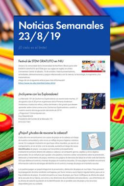 Noticias Semanales 23/8/19