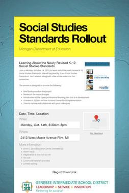 Social Studies Standards Rollout