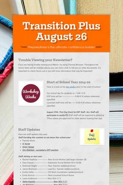 Transition Plus   August 26