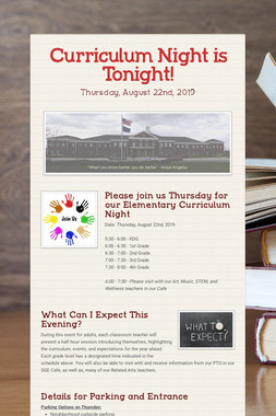 Curriculum Night is Tonight!