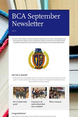 BCA September Newsletter