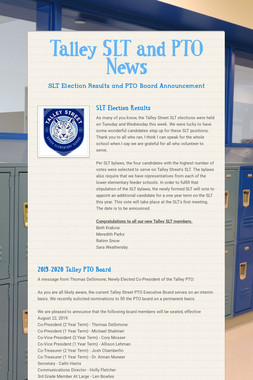 Talley SLT and PTO News