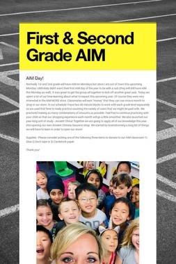 First & Second Grade AIM