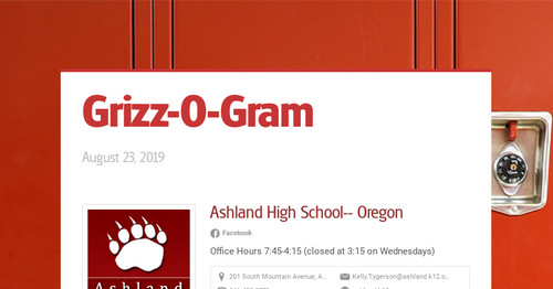 Grizz-O-Gram | Smore Newsletters for Education