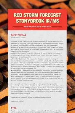 Red Storm Forecast Stonybrook IA/MS
