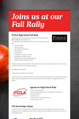 Joins us at our Fall Rally