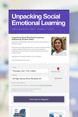 Unpacking Social Emotional Learning