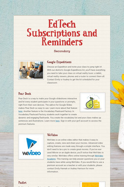 EdTech Subscriptions and Reminders
