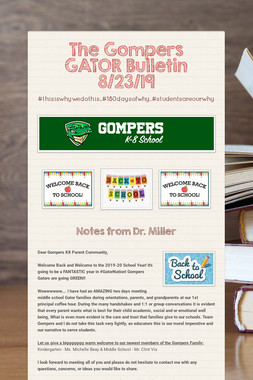 The Gompers GATOR Bulletin 8/23/19