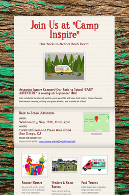 "Join Us at ""Camp Inspire"""