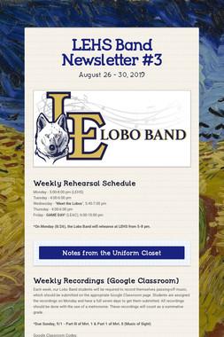 LEHS Band Newsletter #3