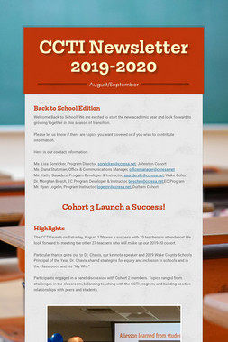 CCTI Newsletter 2019-2020
