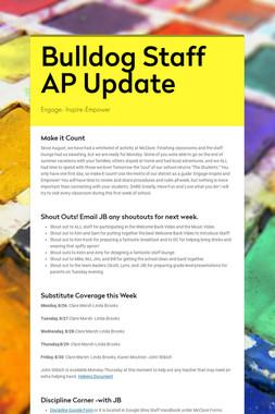 Bulldog Staff AP Update