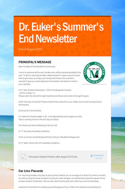 Dr. Euker's Summer's End Newsletter