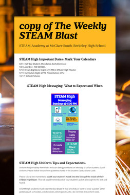 copy of The Weekly STEAM Blast