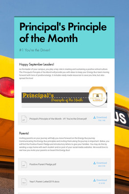 Principal's Principle of the Month