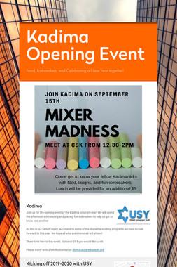 Kadima Opening Event