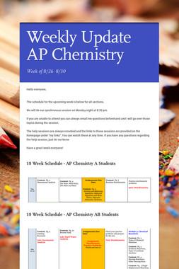 Weekly Update AP Chemistry