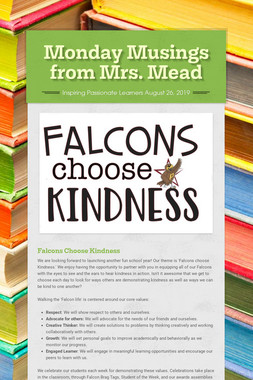 Monday Musings from Mrs. Mead