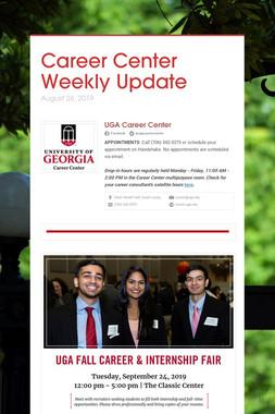 Career Center Weekly Update