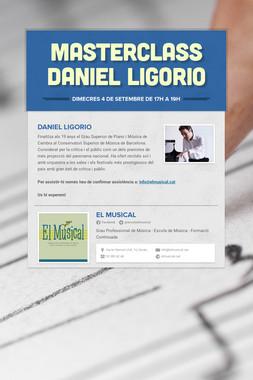 MASTERCLASS Daniel Ligorio