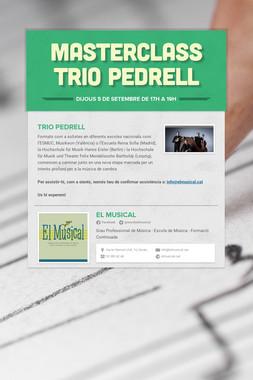 MASTERCLASS Trio Pedrell