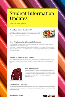Student Information Updates