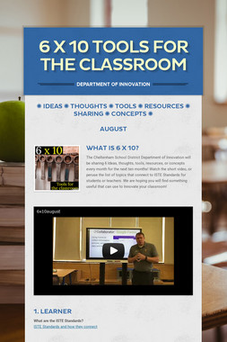 6 X 10 Tools for the Classroom