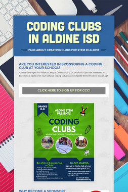Coding Clubs in Aldine ISD