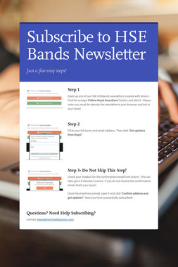 Subscribe to HSE Bands Newsletter
