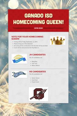 Ganado ISD Homecoming Queen!
