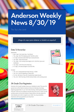 Anderson Weekly News 8/30/19