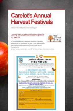 Carelot's Annual Harvest Festivals