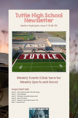 Tuttle High School Newsletter