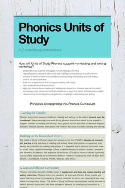 Phonics Units of Study