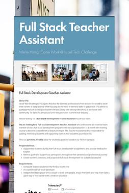Full Stack Teacher Assistant