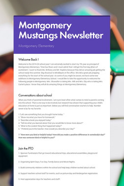 Montgomery Mustangs Newsletter