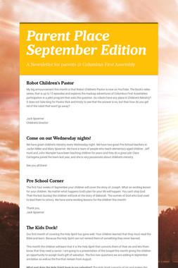 Parent Place September Edition