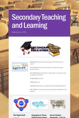 Secondary Teaching and Learning