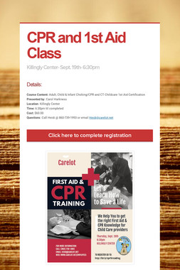 CPR and 1st Aid Class