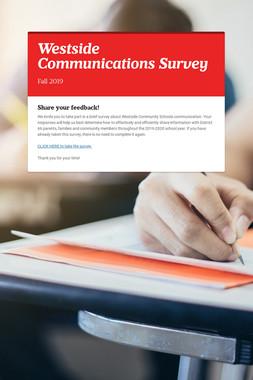 Westside Communications Survey
