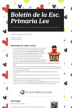 Boletín de la Esc. Primaria Lee