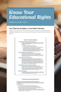 Know Your Educational Rights