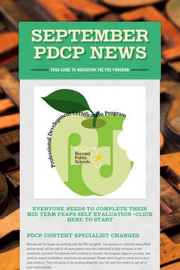 September PDCP News