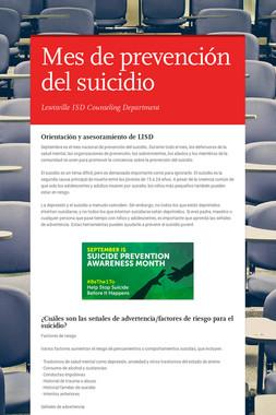 Mes de prevención del suicidio