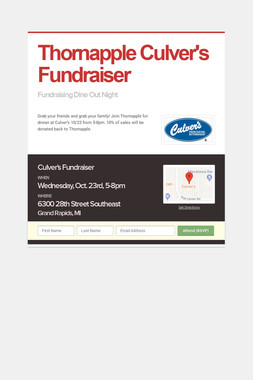 Thornapple Culver's Fundraiser