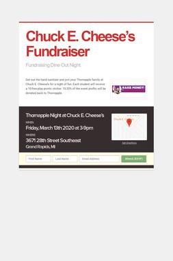 Chuck E. Cheese's Fundraiser