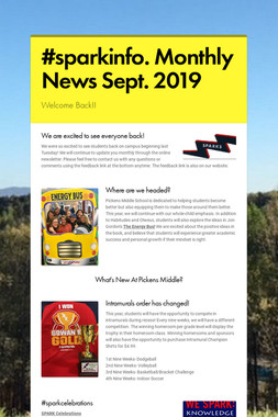 #sparkinfo. Monthly News Sept. 2019